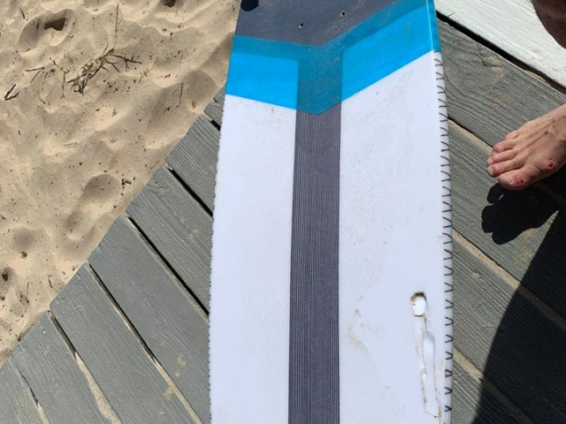 Kite Board Reef Damage